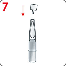 أغلق أداة التطبيق بالغطاء البلاستيكي المحفوظ، للحفاظ على التركيبة الفعالة . إحفظه للاستخدام في اليوم التالي.